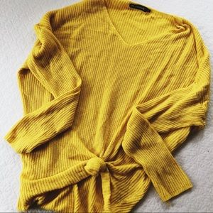 Slouchy Bright Yellow Knit // Local Boutique